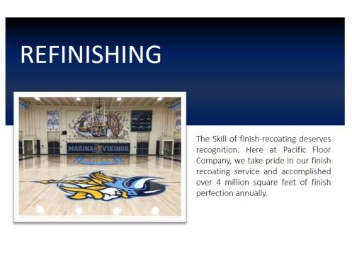 Gym Floor Refinishing