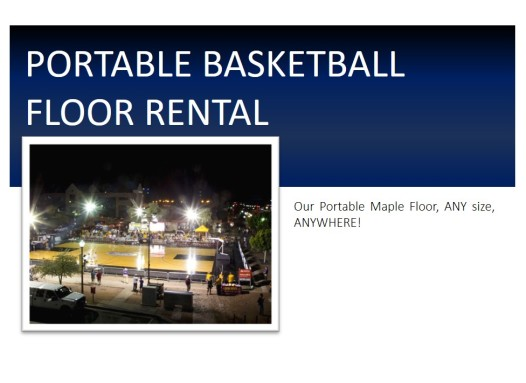 Portable Floor Rental